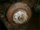 Кулак поворотный задний левый (под АБС) для автомобиля Kia Sephia